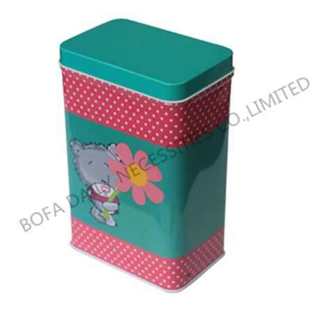 Cartoon prinintg tin box