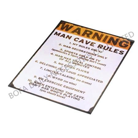 The tin warning sign