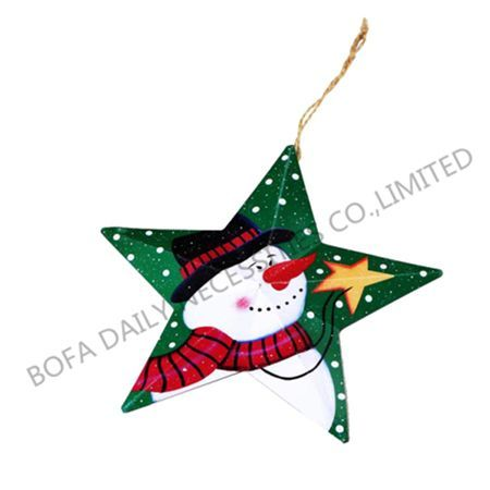 Five star christmas pendant