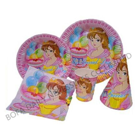 Girls printing tableware set p...