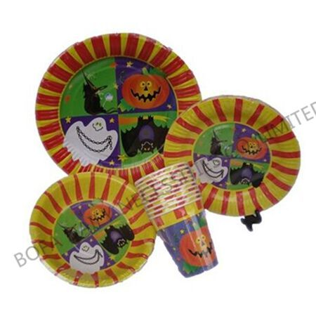 Halloween printing tableware s...