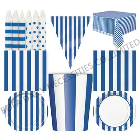 Blue stripe theme printing par...