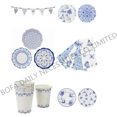 Blue & white theme printin...